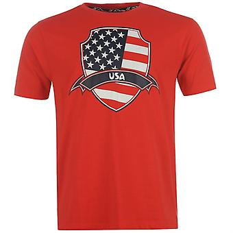 USA 2014 FIFA flaga Tee (czerwony)