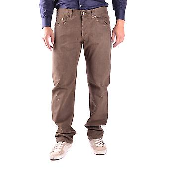 Costume national men's MCBI074014O Brown cotton of jeans