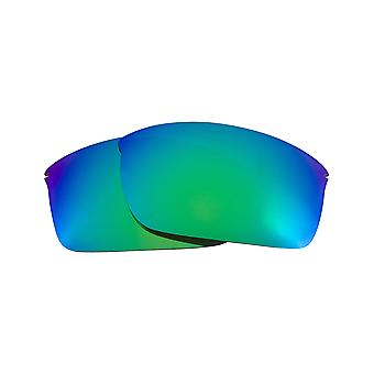 Replacement Lenses Compatible with OAKLEY WIRETAP Polarized Emerald Green Mirror