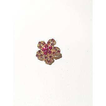 Gold and Pink Brooch