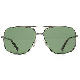 Marc Jacobs Square Pilot Sunglasses In Ruthenium Green