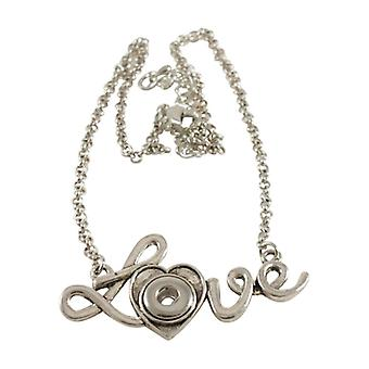 Stainless Steel Necklace With Pendant For Mini Click Buttons Kb0887-s