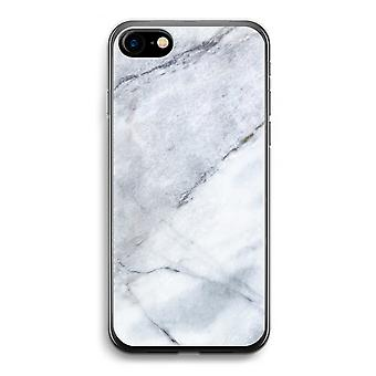 iPhone 7 Transparent Case (Soft) - Marble white