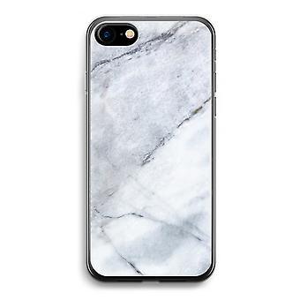 iPhone 7 transparentes Gehäuse (Soft) - Marmor weiß