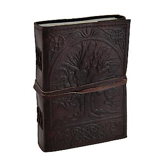 Embossed Leather Tree Of Life 120 Page Unlined Dream Book Journal