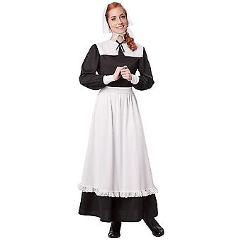 Pilgrim Colonial Olden Day Pioneer Victorian Thanksgiving Womens Costume