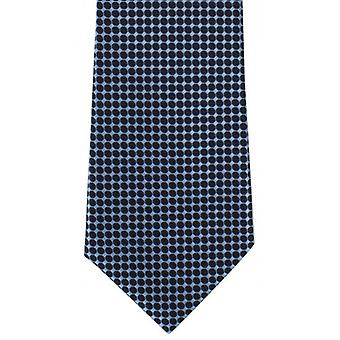 Michelsons of London Spot Grid Polyester Tie - Blue