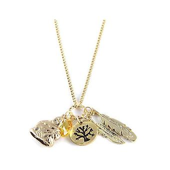 Ettika - Collar necklace Charm's happiness Crystal and gold yellow