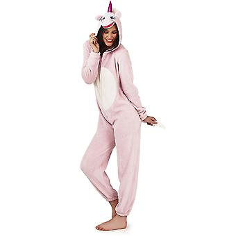 Loungeable, Ladies Luxury 3D Unicorn All In One Jumpsuit Onesie, Pink, Large (UK 16-18)