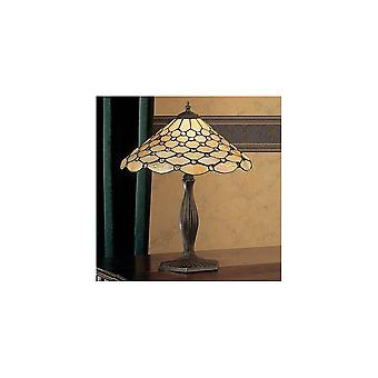 Interiors 1900 DB741 + TO6/M Pearl Classic Tiffany Single Light Table