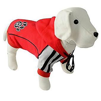 Nayeco Red Dog Hooded Footprint 50 cm (Psy , Ubrania dla psów , Swetry i bluzy)