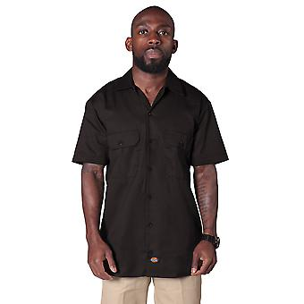 Dickies Short Sleeve Work Shirt - Dark Brown Dickies1574DB Mens Classic Shirt