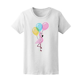 Flamingo With Balloons Tee Women's -Image by Shutterstock