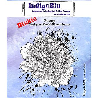 IndigoBlu Cling Mounted Stamp-Peony-Dinkie IND0159