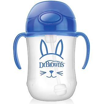 Dr Brown's 270ml Baby Straw Cup Blue