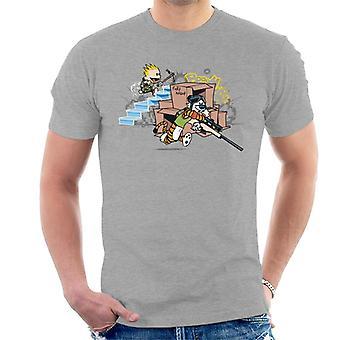 Calvin und Hobbes Fortnite Herren T-Shirt