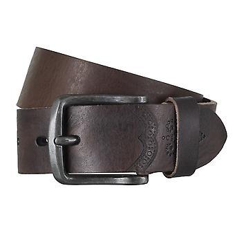 LLOYD Men's belt belts men's belts leather belt cowhide Brown 6602