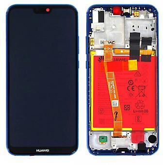 Huawei visar LCD enhet + ram för P20 Lite Service Pack 02351VUV blå ny
