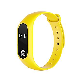 M2 Fitness bracelet with heart rate monitor-Yellow