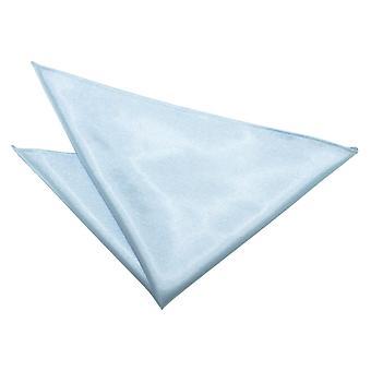 Baby blå almindelig Satin tørklæde / Pocket Square