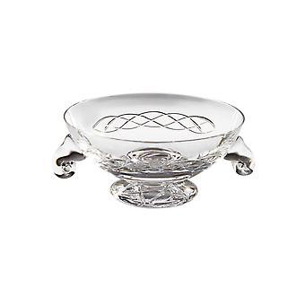 Celtic Small Crystal Glass Quaich - 120mm diameter