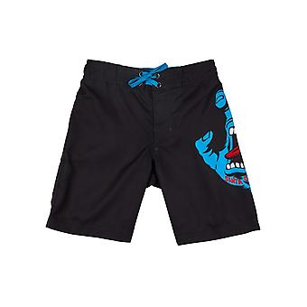 Santa Cruz Black Screaming Hand Kids Boardshorts