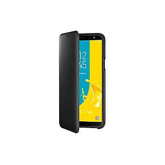 Samsung Wallet Cover Tasche Hülle EF-W600 für Galaxy J6 2018 Schutzhülle Black