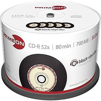 Tom CD-R 80 700 MB Primeon 2761108 50 eller flere PCer spindel Vinyl