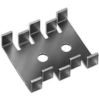 Heat sink 18 C/W (L x W x H) 30 x 25.4 x 7.9 mm SOT 32, TO 220, TO 126 Fischer Elektronik FK 210 SA-CB