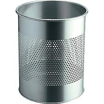 Waste paper basket 15 l Durable 3310 (Ø x H) 260 mm x 315 mm Silver 1 pc(s)