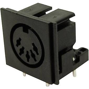 Cliff FC680805 DIN connector Socket, horizontal mount Number of pins: 5 Black 1 pc(s)