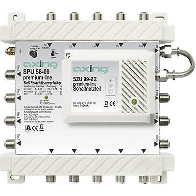 SAT multiswitch Axing SPU 58-09 Inputs (multiswitches)  5 (4 SAT 1 terrestrial) No. of participants  8 Standby mode, Quad LNB compatible