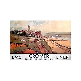 Cromer, Norfolk Ls (antiguo ferrocarril Ad.) Imán de nevera