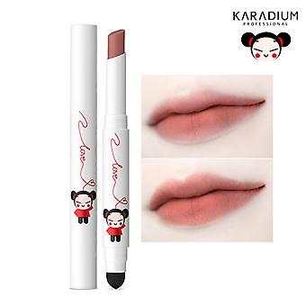 Karadium Pucca Love Edition Smudging Velvet Matte Long Lasting Lip Tint Stick 1.4g - (#06 BROWN RED)