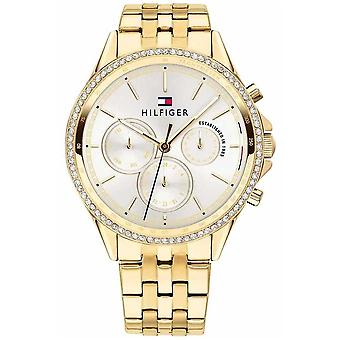 Tommy Hilfiger Womens Gold Plated Crystal Set Multifunction 1781977 Watch