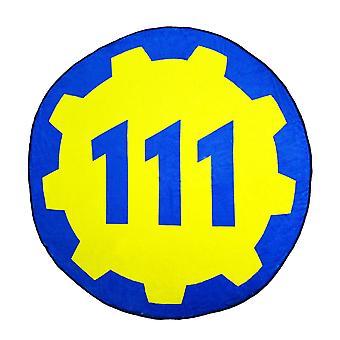 Fallout 4 Vault 111 Circular Fleece Blanket