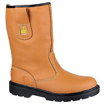 Amblers Mens FS124 Steel Toe & Midsole Rigger Safety Boot S1-P-SRC