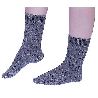 Tabitha women's luxury cashmere crew socks in grey | English made by Pantherella