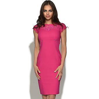 Spets rosa Bodycon klänning