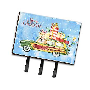 Carolines Treasures  CK2451TH68 Merry Christmas Corgi Leash or Key Holder