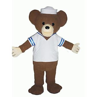 SPOTSOUND of brown bear mascot, dressed as a sailor