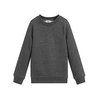 Boss Hugo Boss Dark Grey Logo Crew Neck Sweatshirt