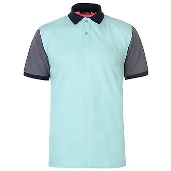Pierre Cardin Mens Contrast Collar Polo Shirt Classic Fit Tee Top Button Placket