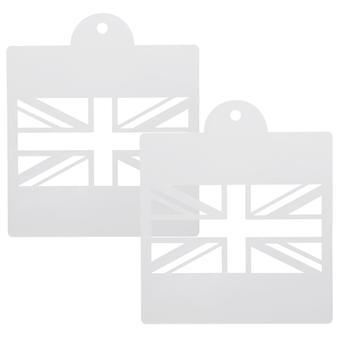 Union Jack ritning Stencil mallar för Scrapbooking kort att göra TRIXES