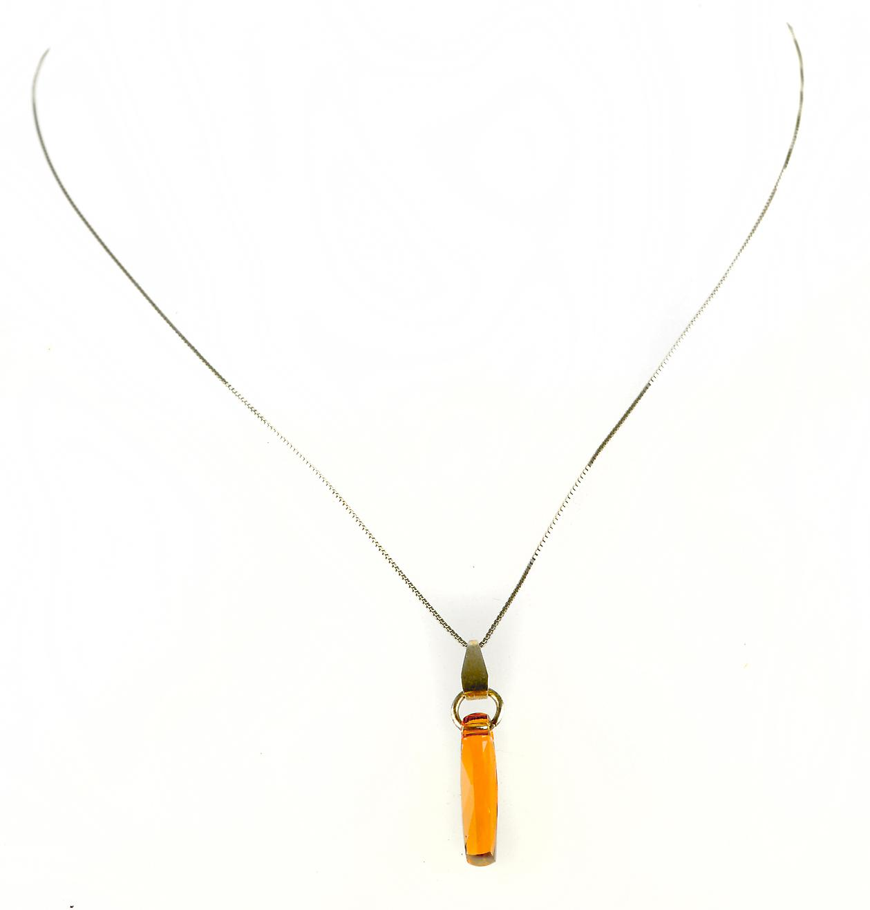 Waooh - Fashion Jewellery - WJ0304 - Necklace with Swarovski Stone - Colour Silver Chain