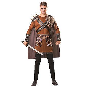 Medieval Warrior Man Brown