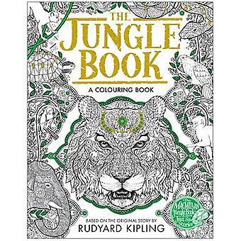 Jungle Book farvning bog (vigtigste marked Red.) af Rudyard Kipling-