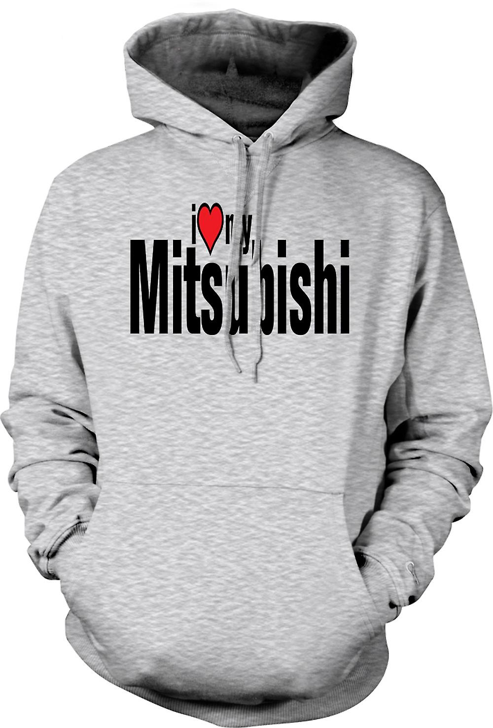 Mens Hoodie - I Love My Mitsubishi - Car Enthusiast