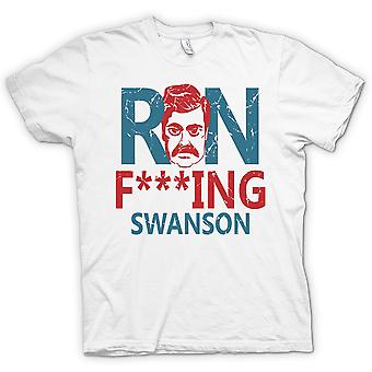 Mens T-shirt - Ron F**king Swanson