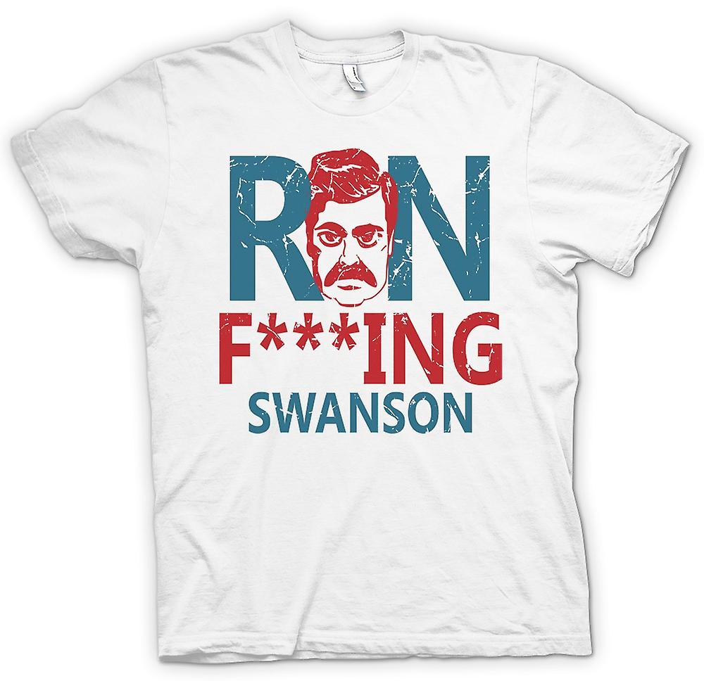 Mens t-skjorte-Ron F ** king Swanson